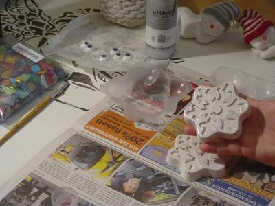 Beton giessen - DIY - Schneeflocke aus Beton (oder Keramik)