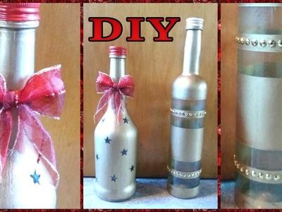 Deko - Flaschen für Weihnachten • DIY  * Julebuergerfee
