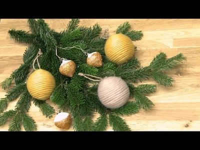 DIY Upcycling: Christbaumkugeln mit Wolle und Glitter verschönern