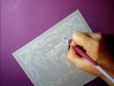Новогодняя открытка с зимним пейзажем. Мастер-класс по технике ParchmentCraft