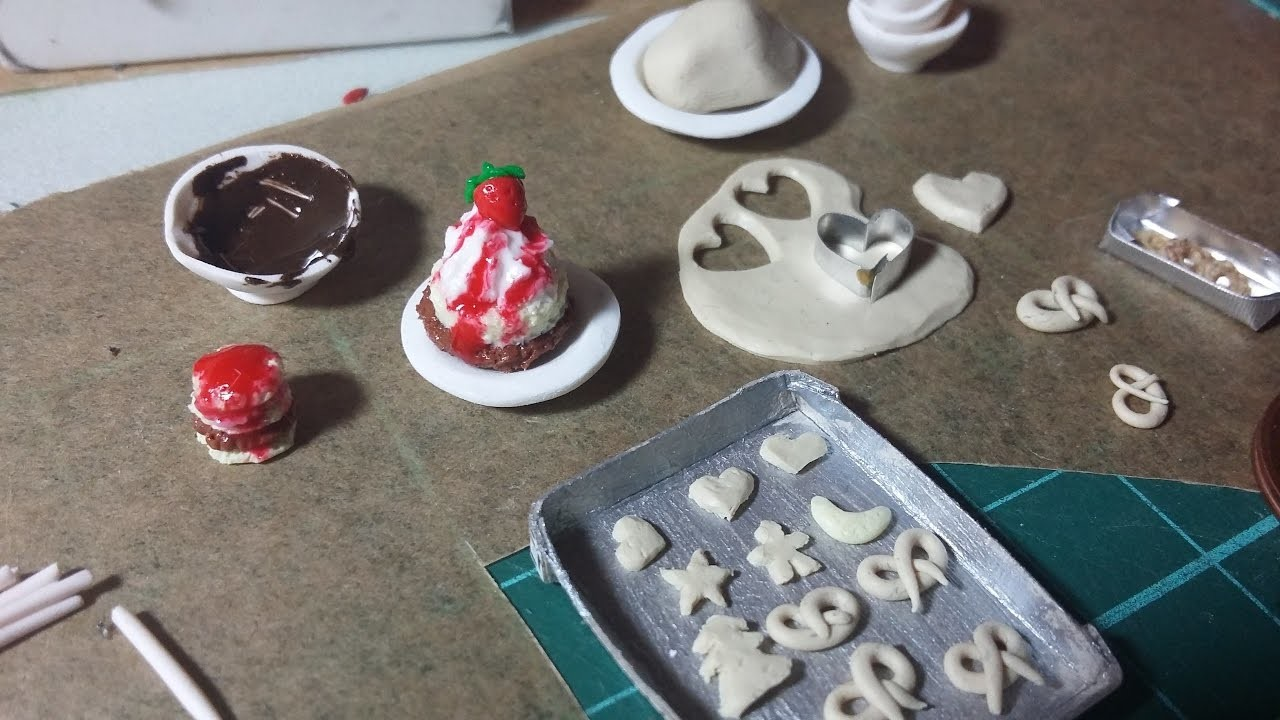 Project-Update: Polymer Clay Mini Food - Fimo Mini-Essen für mein Mouse-House