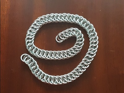 Kettenringe Kettenmuster. Half Persian 4 in 1 Chainmaille TUTORIAL