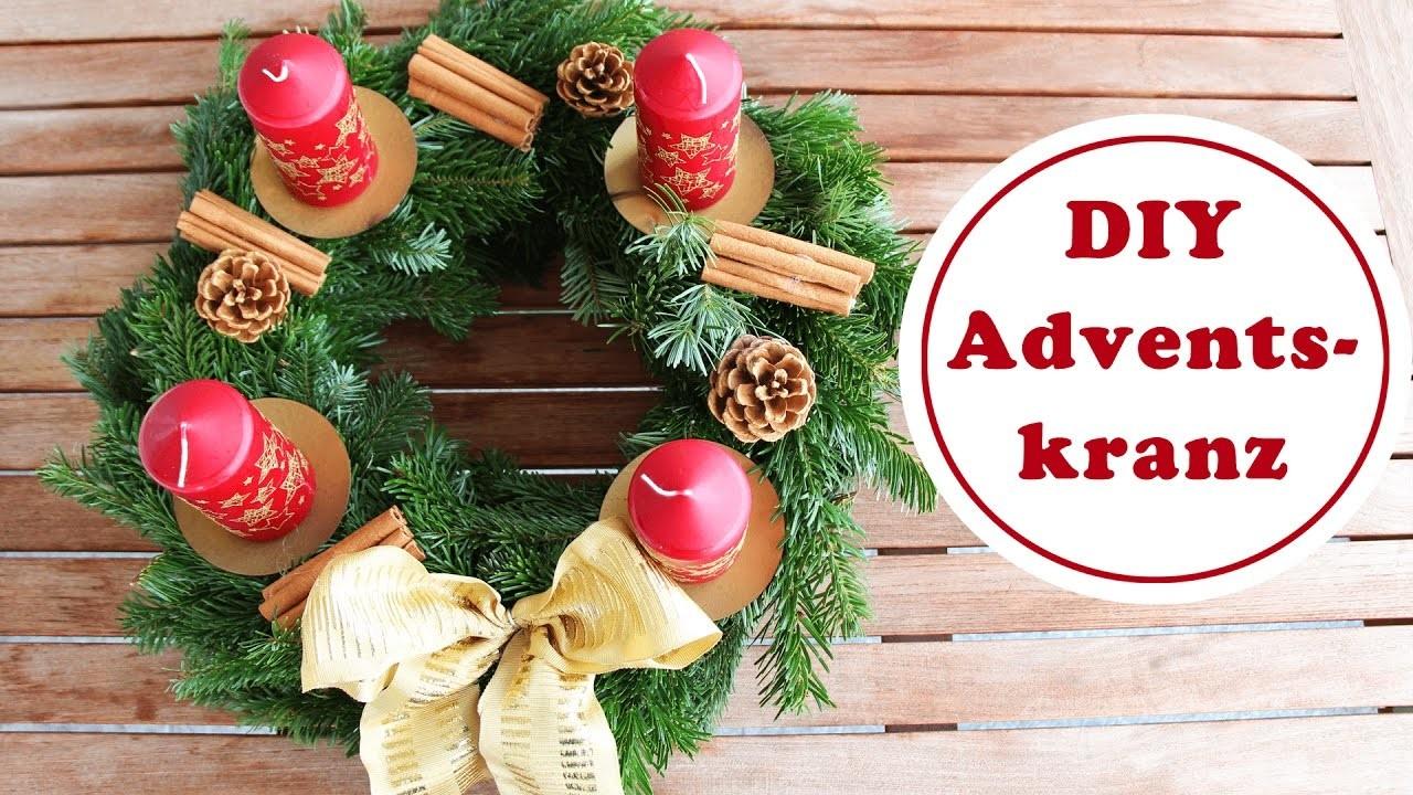 Nicoles Adventskranz | Adventskranz günstig dekorieren | DIY Weihnachtsdeko