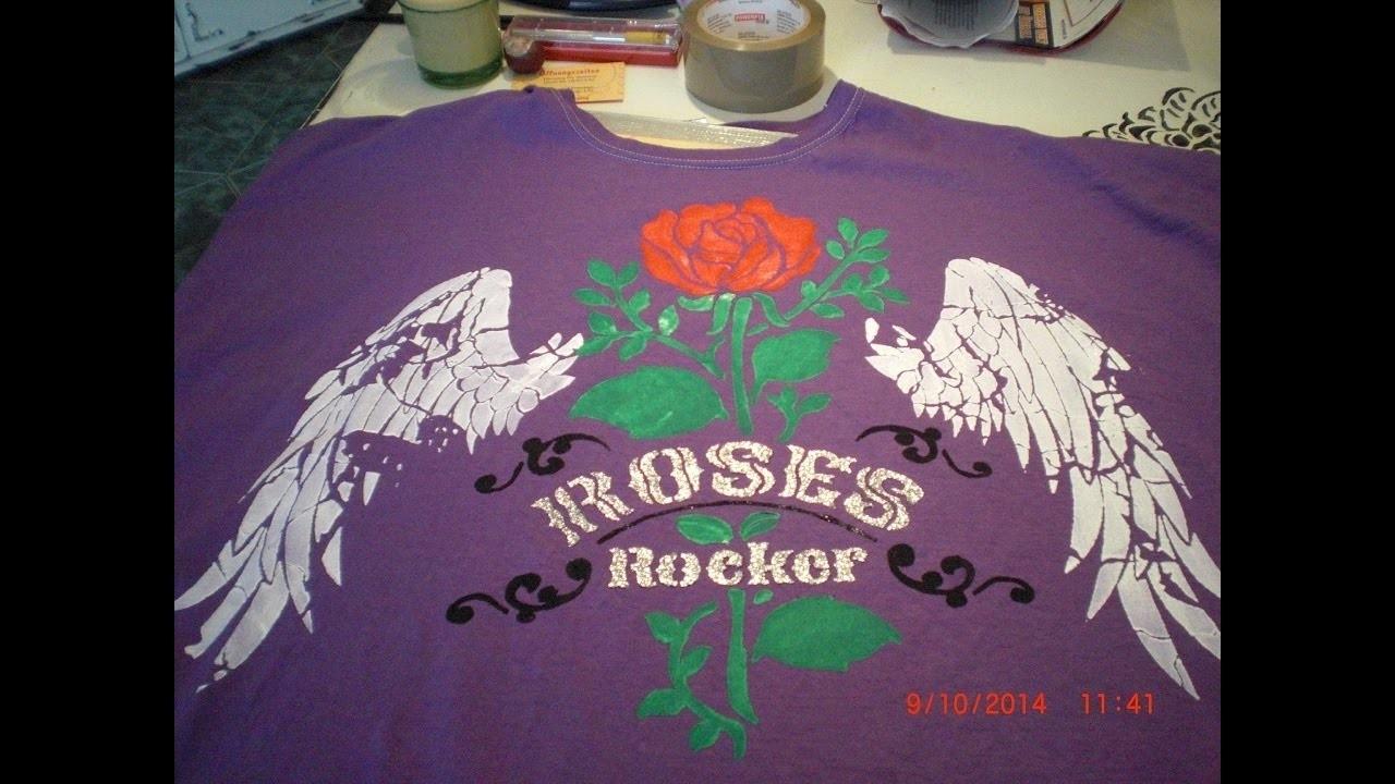 Textildesign - DIY - T- Shirt mit Schablonen gestalten