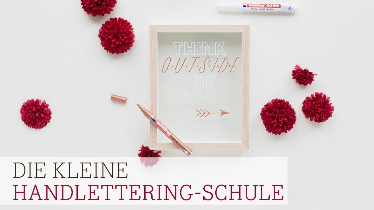Die kleine Handlettering-Schule: Glasrahmen mit Blockschrift verzieren (Teil 3)