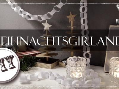 DIY : Girlande aus Papier zum Weihnachten | x-mas paper chain