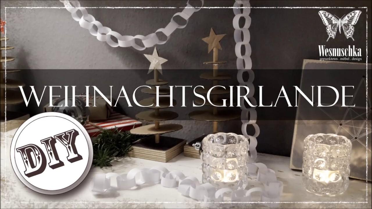 DIY : Girlande aus Papier zum Weihnachten   x-mas paper chain