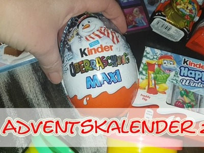 DIY Kinder Adventskalender 2016 - FROZEN. KINDER SCHOKOLADE. PLAY-DOH. Ü-Eier