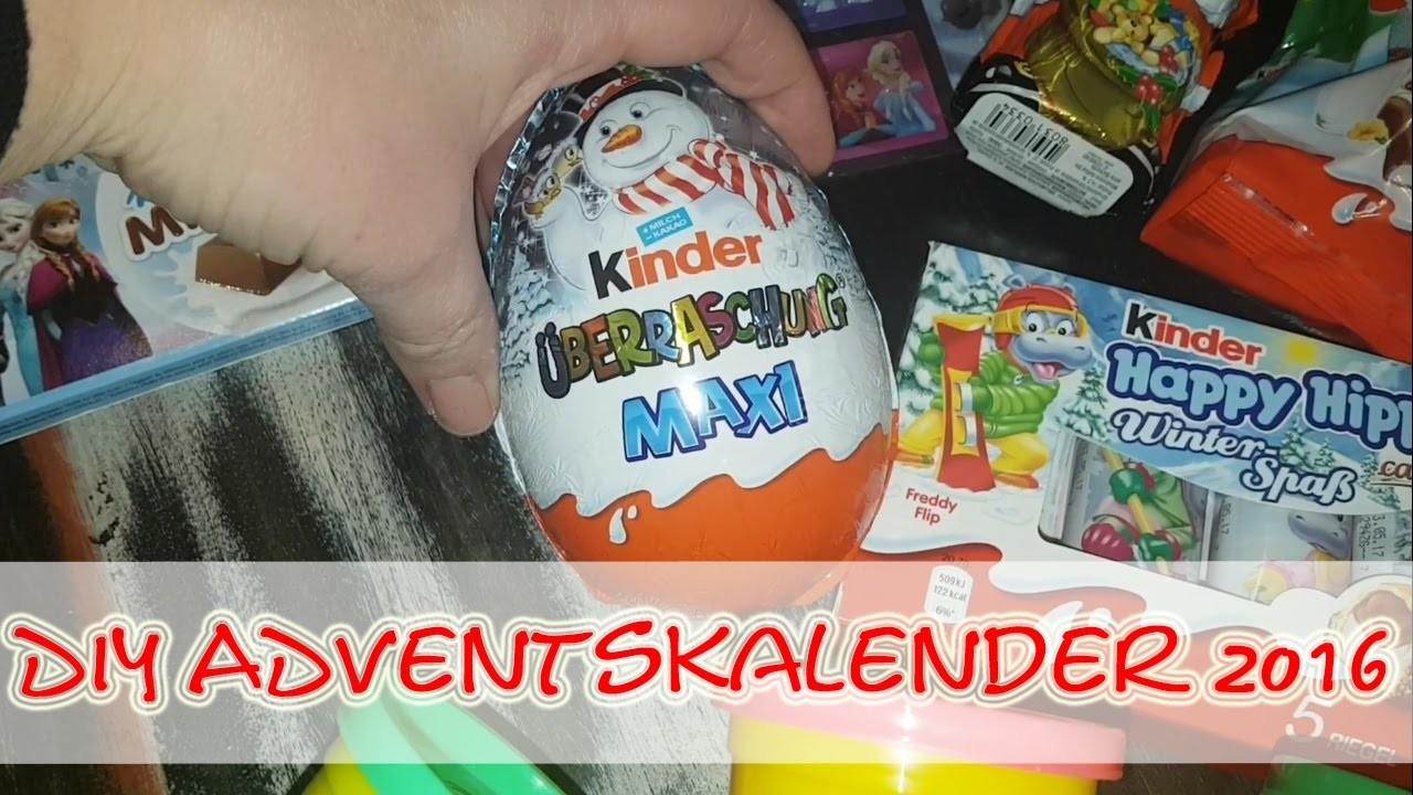 DIY Kinder Adventskalender 2016 - FROZEN. KINDER SCHOKOLADE. PLAY-DOH. Ü-Eier