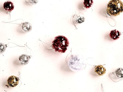 DIY Sparkle Christmas Baubles