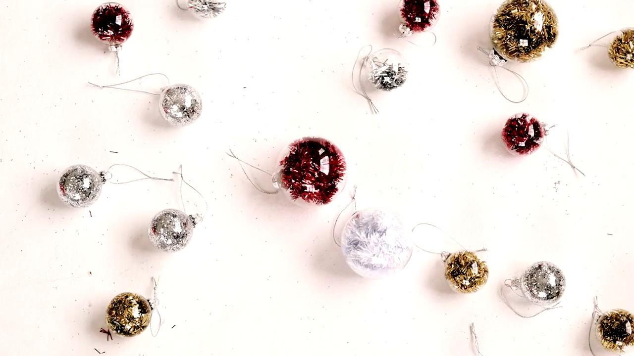DIY Sparkle Christmas Baubles