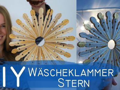 DIY Wäscheklammer Holzstern - Weihnachtsdeko, Upcycling