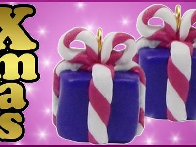 DIY xmas | Weihnachten Fimo Geschenk Anhänger | Christmas polymer clay gift box charm