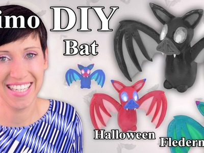 FIMO Fledermaus: Polymer Clay Halloween Bat – Tutorial [HD.DE] (EN-Sub)