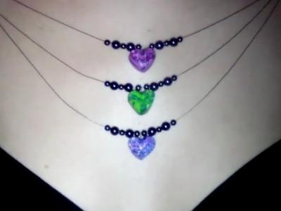 FIMO Halskette: Herzen mit Koralleneffekt [HD.deutsch]
