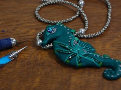Fimo Halskette - Seepferdchen