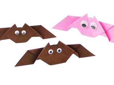 Fledermäuse basteln | Halloween Deko Idee | 3D Falten | einfache Anleitung für Kids