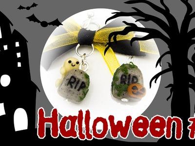 [Halloween #1] Fimo Grabstein Ohrringe