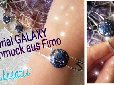 Super easy GALAXY Schmuck aus Fimo - Tutorial Galaxy Jewellery *Krikreativ*