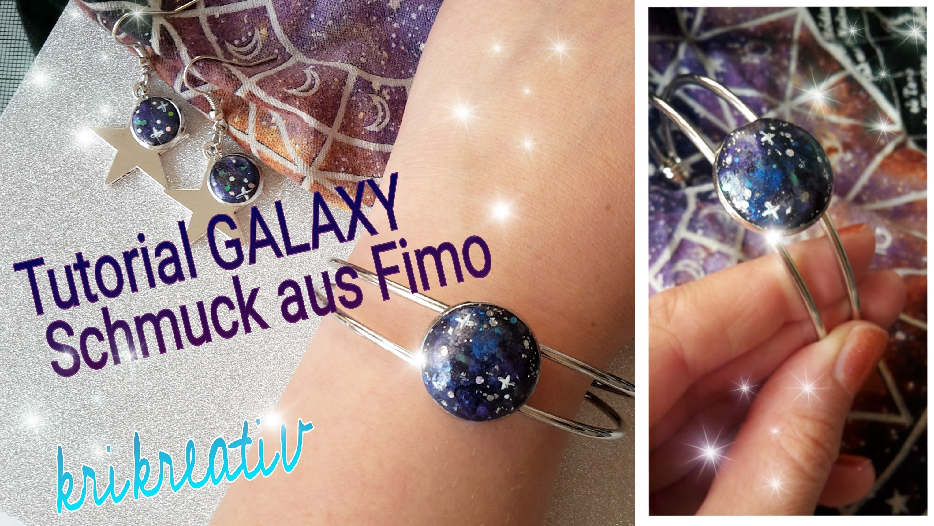 Super easy GALAXY Schmuck aus Fimo - Tutorial Galaxy Jewellery *Krikreativ*