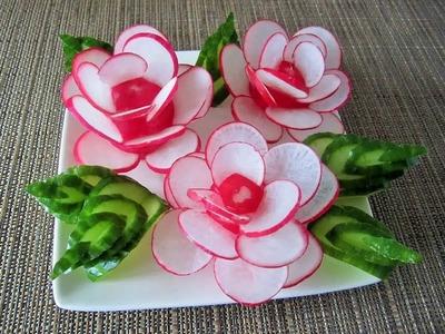 Radieschenblumen. Rose