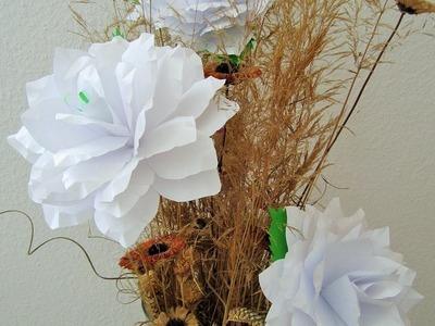Rosen aus DIN A4-Papier.Roses from A4 paper