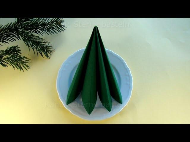 Servietten falten einfach: Doppelte Faltung - Schnelle Tischdeko selber machen: Weihnachten