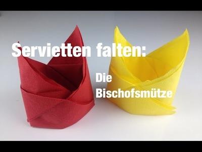 Servietten falten: Bischofsmütze | Folge 5 | Cucina Verde