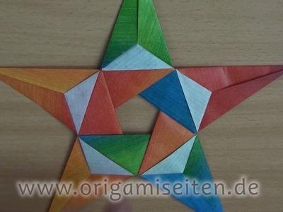Stern ISABELLA, Anleitung für ein Origami-Pentagramm (Carmen Sprung)