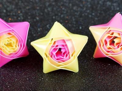 basteln mit kindern origami rose falten rosen basteln. Black Bedroom Furniture Sets. Home Design Ideas