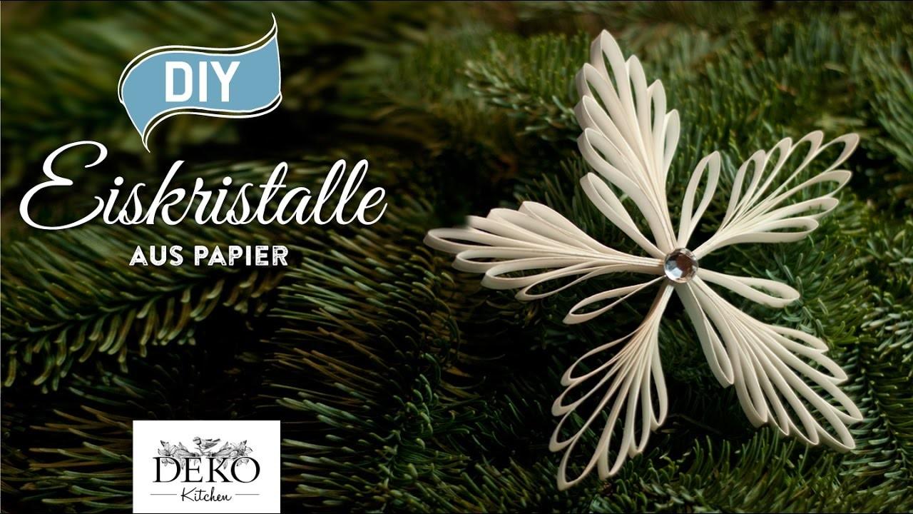 DIY: Weihnachtsdeko mit Eiskristall-Anhängern aus Papier [How to] Deko Kitchen