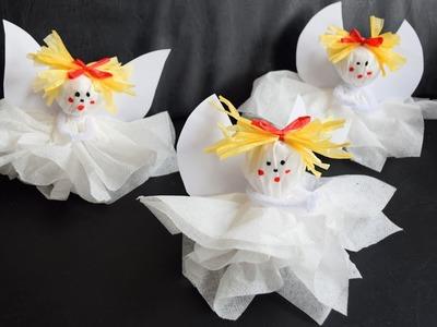 Engel aus Servietten basteln