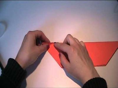 Origami Anleitung - ein Vogel aus Papier falten