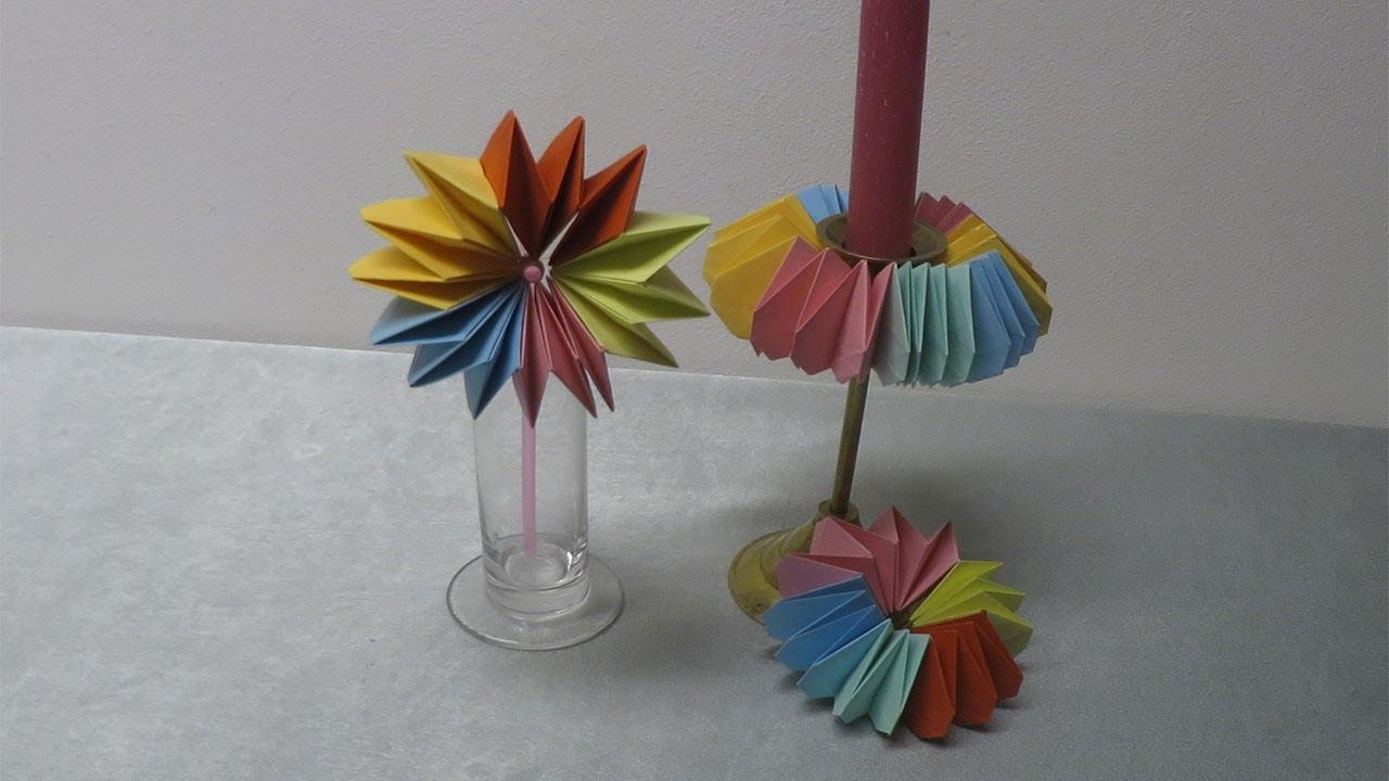 papierblumen basteln f r eine sch ne tischdeko deko ideen mit flora shop. Black Bedroom Furniture Sets. Home Design Ideas