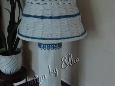 Tischlampe aus Papier Röllchen 1