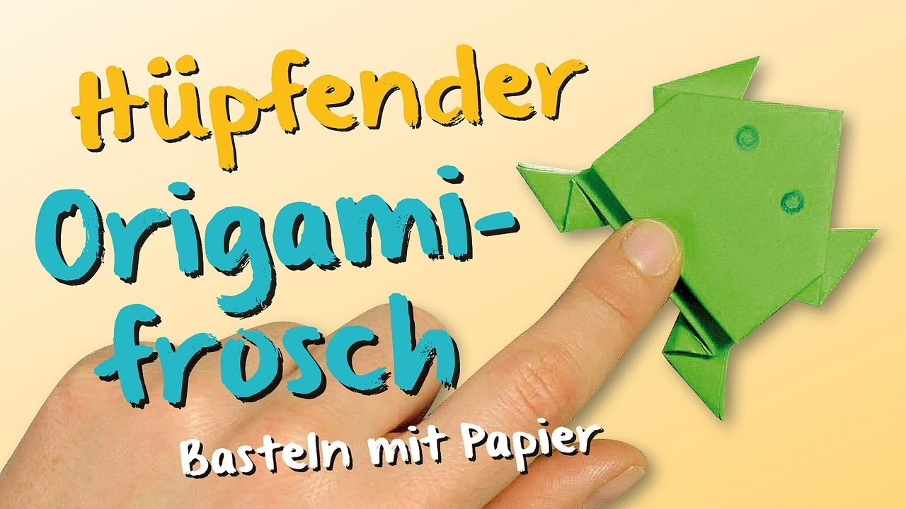 origami basteln mit papier h pfender frosch. Black Bedroom Furniture Sets. Home Design Ideas