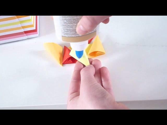 origami blumen falten. Black Bedroom Furniture Sets. Home Design Ideas