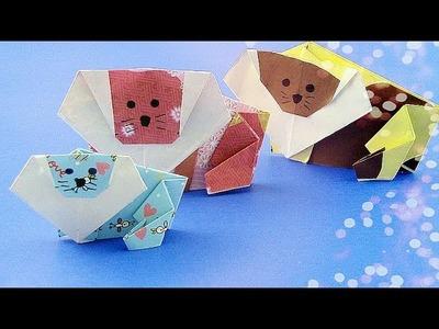 【Origami Schulstunde】Wie man einen Löwen falten? 01345+de