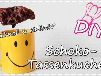 REZEPT DIY | Schoko- Tassenkuchen in 3 Minuten ♥