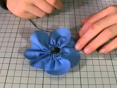 Blume aus Herzen - Stoffblume - Dekoblume - Kühlschrankmagnet