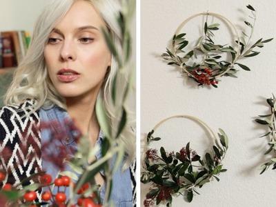 Einfache Weihnachtsdeko mit Stickrahmen |  DEKO  | Jelena