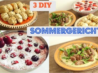 3 DIY SOMMERGERICHTE! Von Frühstück bis zum DINNER!