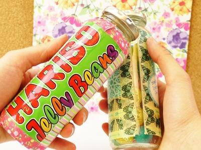 Aus Alt mach Neu | Smoothieflaschen für Jelly Beans | Aufbewahren & Organisieren mit Verpackungen