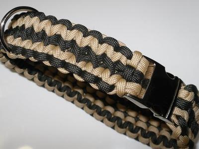 Paracord Halsband Anleitung - breites Hundehalsband in Deutsch auch als Blog