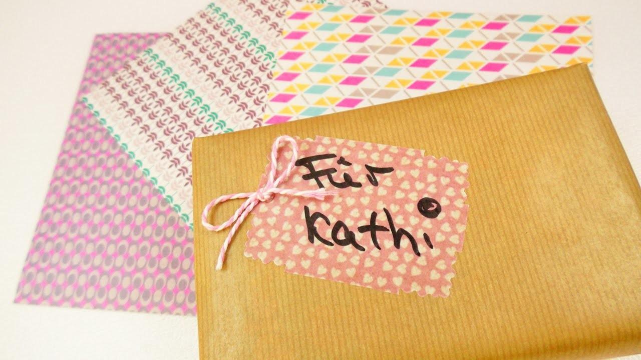 Süße Geschenkverpackung mit Washipaper   Geschenke kreativ einpacken   Washi Sheets Trend Idee