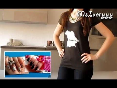 DIY - Home T-Shirt Bügeltransfer auf dunklen Shirts