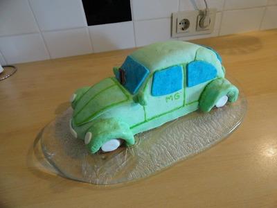 VW Käfer Kuchen. VW Beetle Cake (with English Subtitles)