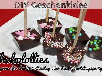 DIY Schokolollies - Schokolöffel - Schokolade am Stiel für heiße Schokolade - Choc Spoons