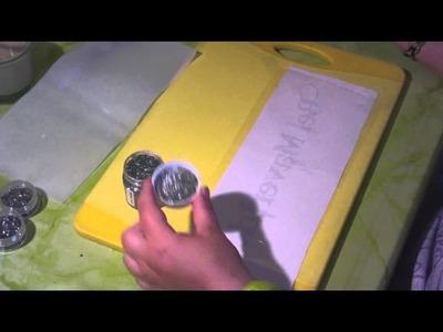 DIY - Schriftzug aus Strass legen