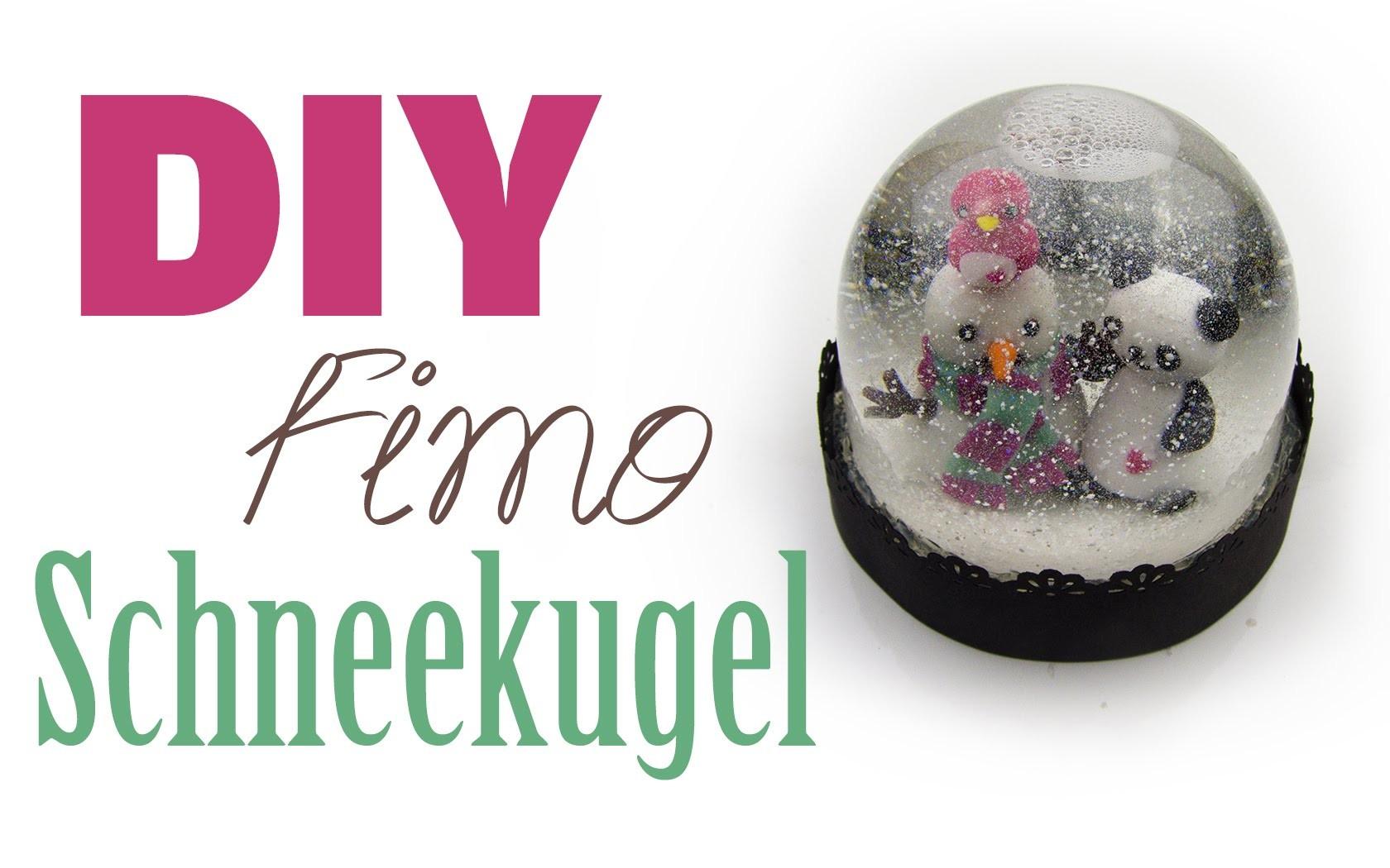 fimo schneekugel diy geschenk ideen 05 weihnachts serie. Black Bedroom Furniture Sets. Home Design Ideas